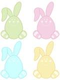 Pasqua pastello Bunny Label Fotografia Stock