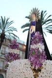 Pasqua in Sicilia, venerdì santo - la nostra signora nella processione - l'Italia Fotografia Stock Libera da Diritti