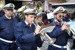 Pasqua in Sicilia, venerdì santo - la nostra signora nella processione - l'Italia Fotografia Stock