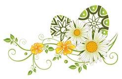 Pasqua, uova, fiori Fotografia Stock