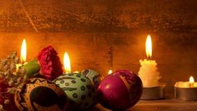 Pasqua variopinta Paschal Eggs Celebration stock footage