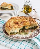 Pasqualina tart typical italian easter. royalty free stock photography