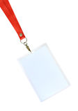 Pass. Blank backstage pass to put your own text on Stock Photography