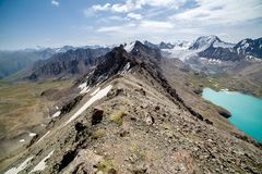 Pass at Ala-Kul lake, Kyrgyzstan Royalty Free Stock Image
