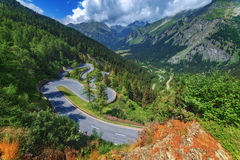 Pass. Amazing view of maloja pass, Alps, Switzerland, Europe Royalty Free Stock Photos