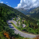 Pass. Amazing view of maloja pass, Alps, Switzerland, Europe Stock Photography