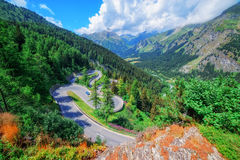 Pass. Amazing view of maloja pass, Alps, Switzerland, Europe Royalty Free Stock Photo