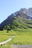 The pass of Aravis. Famous pass at the heart of the Alps Royalty Free Stock Photos