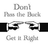 Pass the buck sign Stock Photo