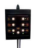 Pass control panel, black, plastic, bank security, Royalty Free Stock Images