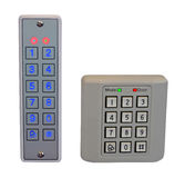 Pass control panel, plastic box, home security,. Two electronic digital safe pass control panel (front-end and backend) isolated on white background. led display Royalty Free Stock Images
