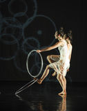 Pass through-Dance musical:Red line. In May 22nd, the French original dance musical red line at the Jiangxi Art Center held. Chinese youth dance actor Liu Yan as Stock Images