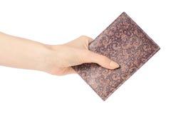 Pass in der Abdeckung in der Hand Stockfotos