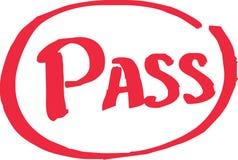 Pass Exam Grade. Written in red vector Royalty Free Stock Photos