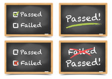 Pass Fail Blackboard Royalty Free Stock Photos