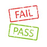 Pass and fail buttons Stock Image