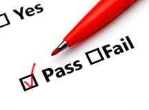 Pass or Fail checkbox Royalty Free Stock Images