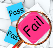Pass Fail Post-It Papers Mean Satisfactory Or Declined Royalty Free Stock Photos