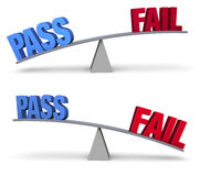 Pass or Fail Set Royalty Free Stock Images