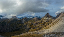 On the pass in the Italian Alps Stock Photography