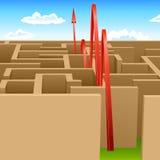 Pass maze Stock Photo