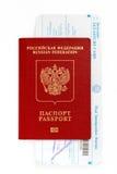 Pass mit thailändischer Immigrationskarte Lizenzfreie Stockfotos