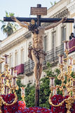 Pass mystery of the brotherhood of St. Bernard in the Holy Week in Seville Stock Photo