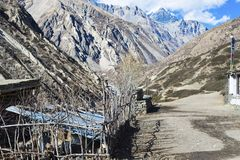 Pass in the Nepal Himalayas, Mustang region, Manali, December 2017. / Stock Image