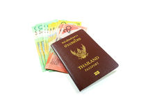 Pass och pengar royaltyfri fotografi
