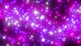 Pass through particles stock footage