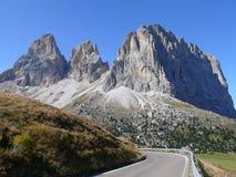 Pass (Passo) Sella. Pass Sella in Italian Dolomites Stock Image
