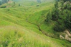 Pass Pordoi in Dolomites Stock Photos