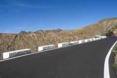 Pass road Canary Islands Fuerteventura Betancuria. Royalty Free Stock Photo