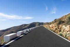 Pass road Canary Islands Fuerteventura Betancuria. Stock Photos