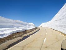 Pass road of Nufenen-Novena Stock Images