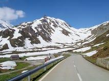 Pass road of Nufenen-Novena Royalty Free Stock Photos