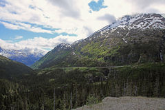 pass routewhite yukon arkivbild