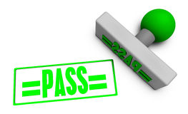 Pass Stamp Royalty Free Stock Photo