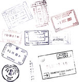 Pass-Stempel Stockbild