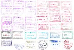 Pass-Stempel Stockfotografie