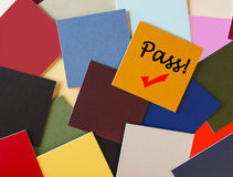Pass! Success  - Sign Royalty Free Stock Image