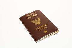 Pass Thailand på isolatvitbakgrund Royaltyfri Fotografi