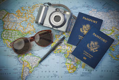 Pass to world travel Stock Images