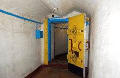 By-pass in u-boat bunker. In Balaklava harbour in Crimea/Ukraine Stock Photography
