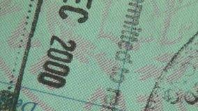 Pass visum, invandring, lopp stock video
