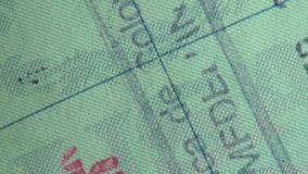 Pass visum, invandring, lopp arkivfilmer