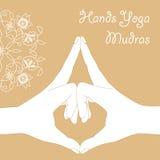 Passa i mudras di yoga Immagine Stock Libera da Diritti