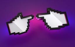 Passa il pixel Fotografie Stock