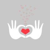 Passa l'illustrazione di vettore della cartolina d'auguri di amore del cuore Immagini Stock Libere da Diritti
