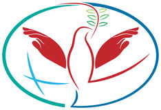 Passa l'uccello di pace Fotografia Stock Libera da Diritti